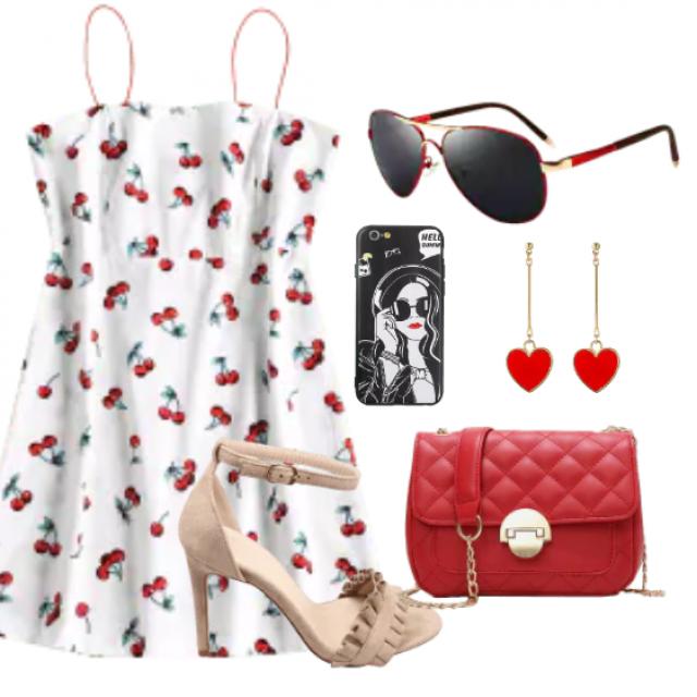 Cute mini sundress  for summer look