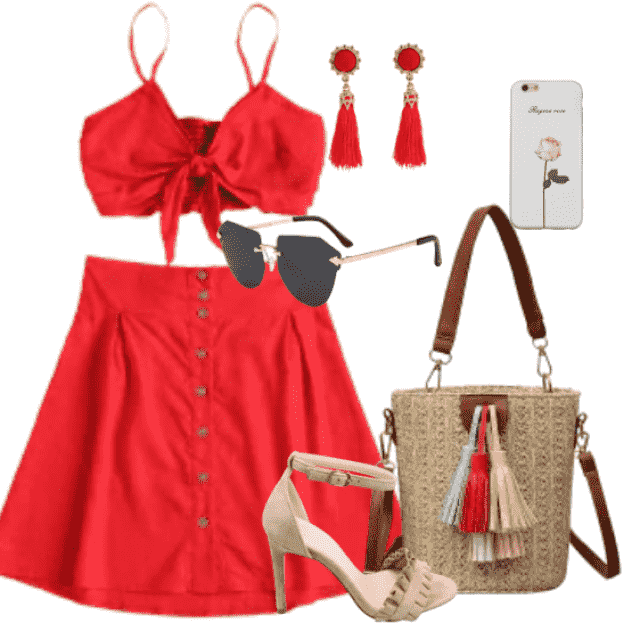 Perfect  two piece skirt set for hot summer day