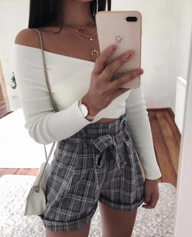 get this plaid shorts it's so trendy and goes with everything