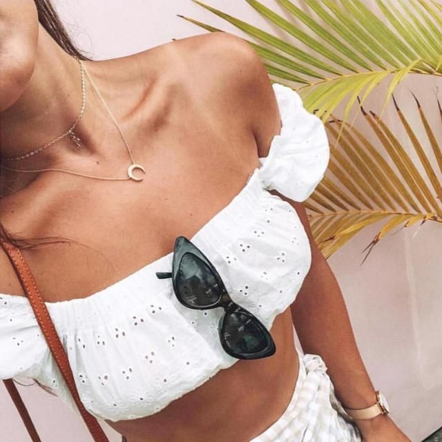 Perfect White Crop Top From ZAFUL. Want some?
