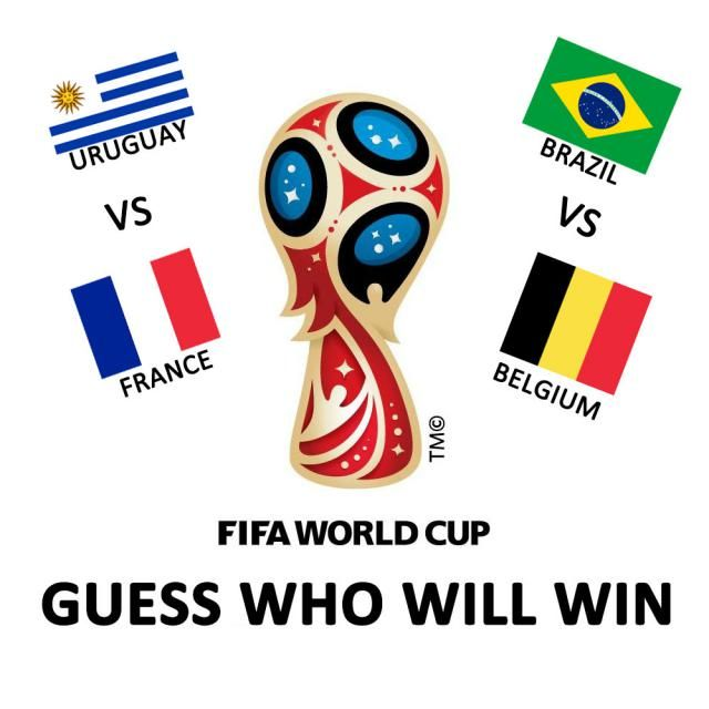 Uruguay vs.France, Brazil vs. Belgium on July 6th! This Friday!