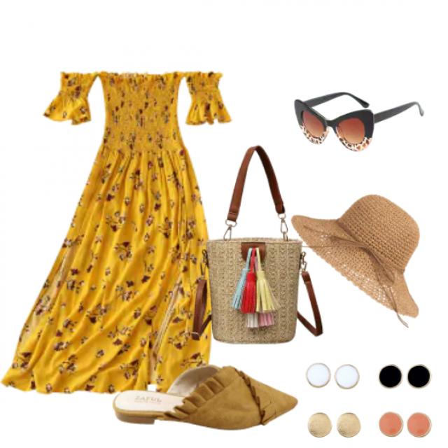 Beautiful midi dress for summer occasion