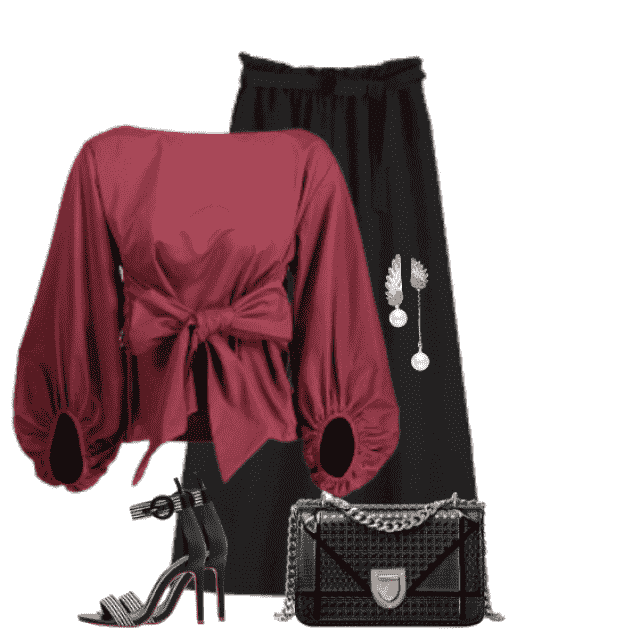 Gorgeous elegant combo with this beautiful blouse and the black chic pants