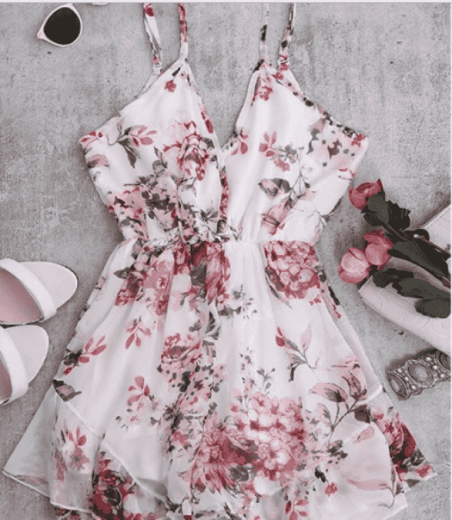 Loove this floral romper