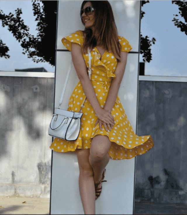 Yellow and polka dots united