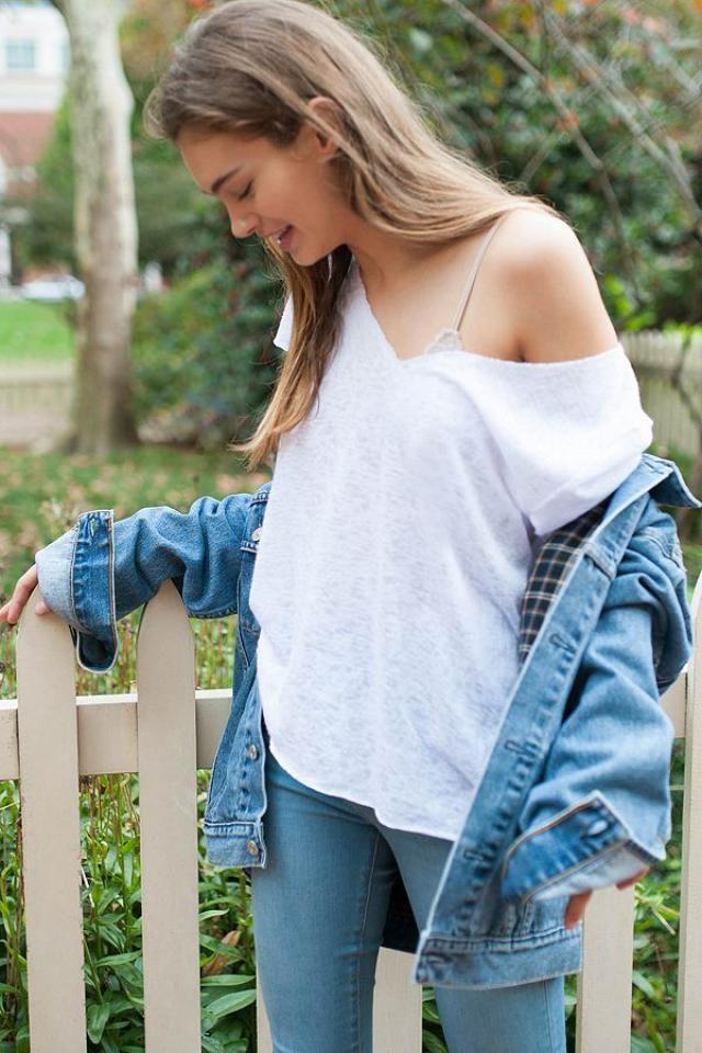 Jeans  Look-Pencil Jeans Denim And Denim Jacket