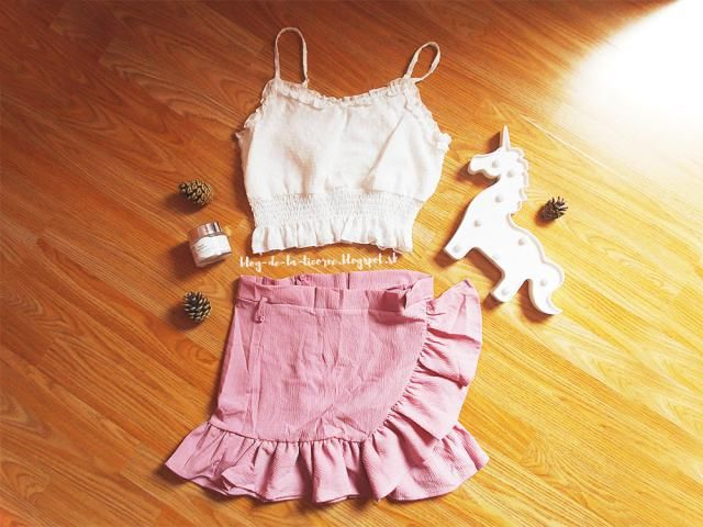 """I just love this adorable crop-top. I also plan to wear it as a """"filler"""" underneath the rompe…"""