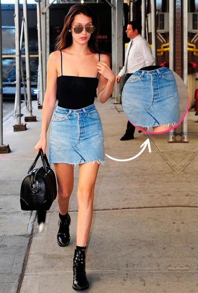 Modern mini skirt!!