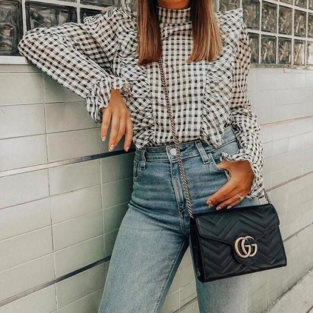 I'm in love with plaid blouses and this one is fabulous and unique