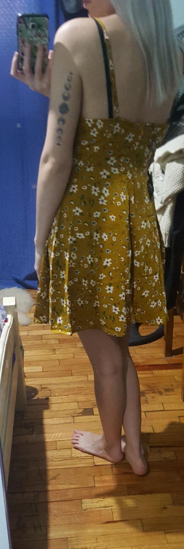 Se ve exactamente como las fotos. <BR>mido 1.62 y 51 kilos. talle s me quedo genial.