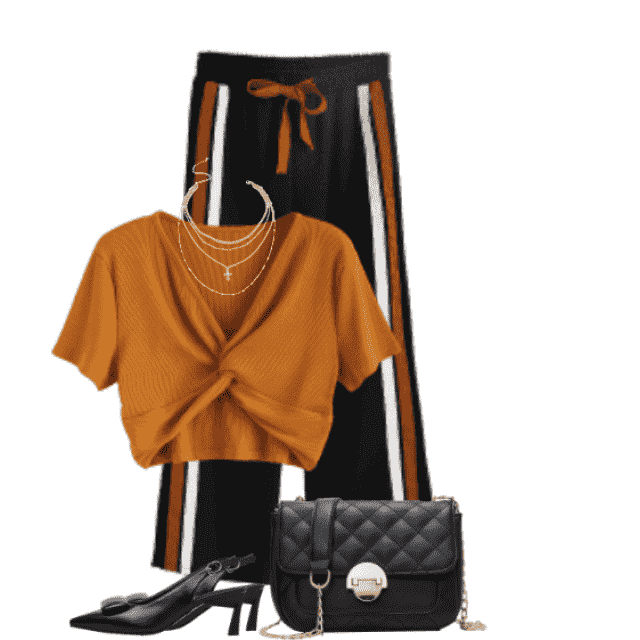 Very trendy and stylish top in beautiful addition to the pants
