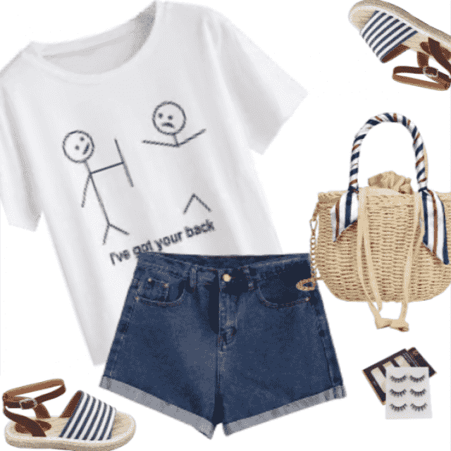 Stylish, casual summer outfit!