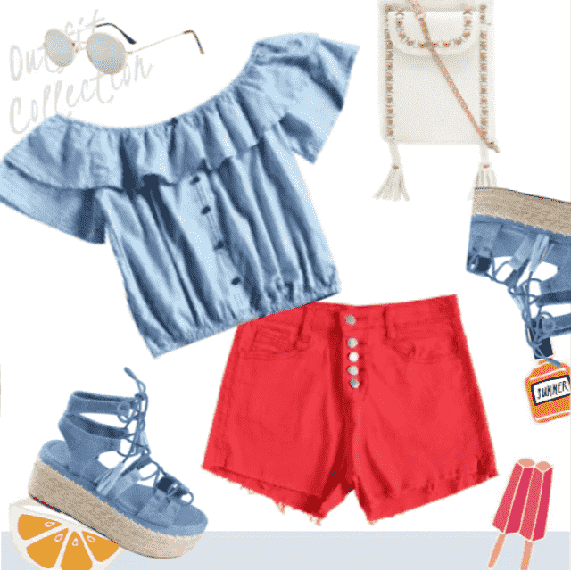 Blue/red combination for hot summer days!