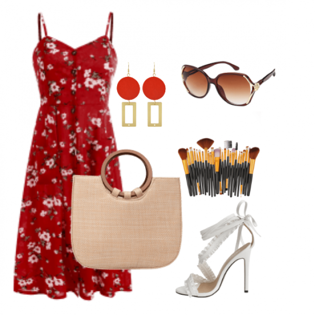 This classic cami dress made for the summer day