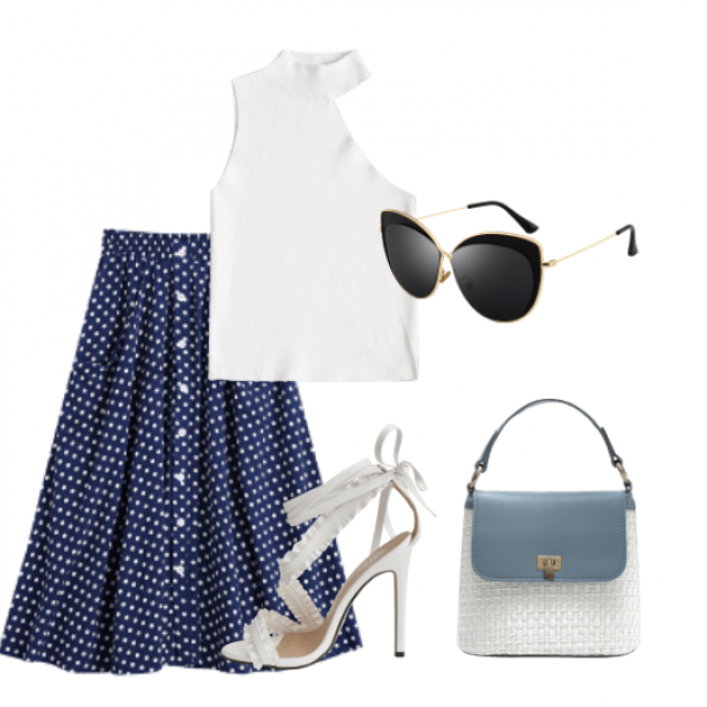 Pretty skirt and white top for going out