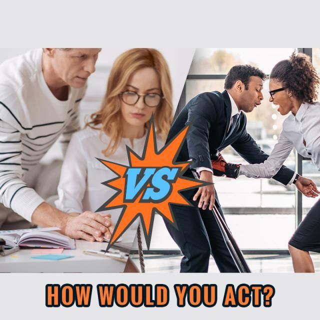 If you encountered sexual harassment, how would you handle it? 
