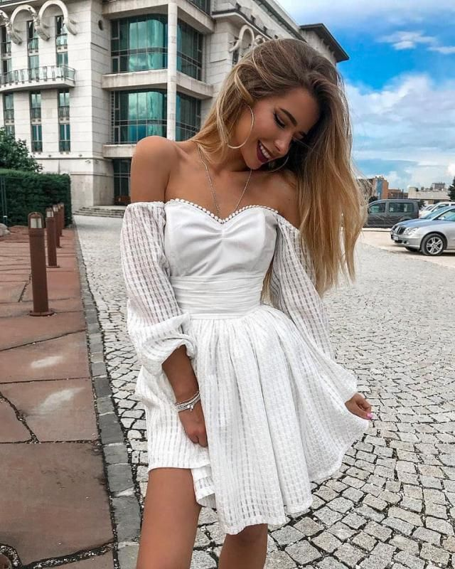 If you are going on a vacation get this beautiful white dress it's chic soft and comfy