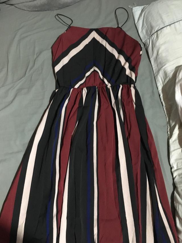 El vestido es hermoso y super cómodo, la tela es de buena calidad.  <BR> <BR>yo pedí una talla S y me queda…