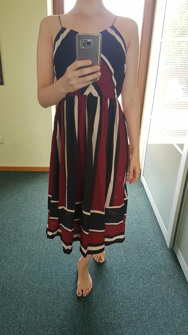 Love the dress! Just the material is  not very confortable but overall the dress is very nice :)