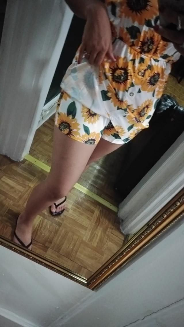 True to size,  Looks exaclty like the pictures , I love that it have shorts underneath the dress