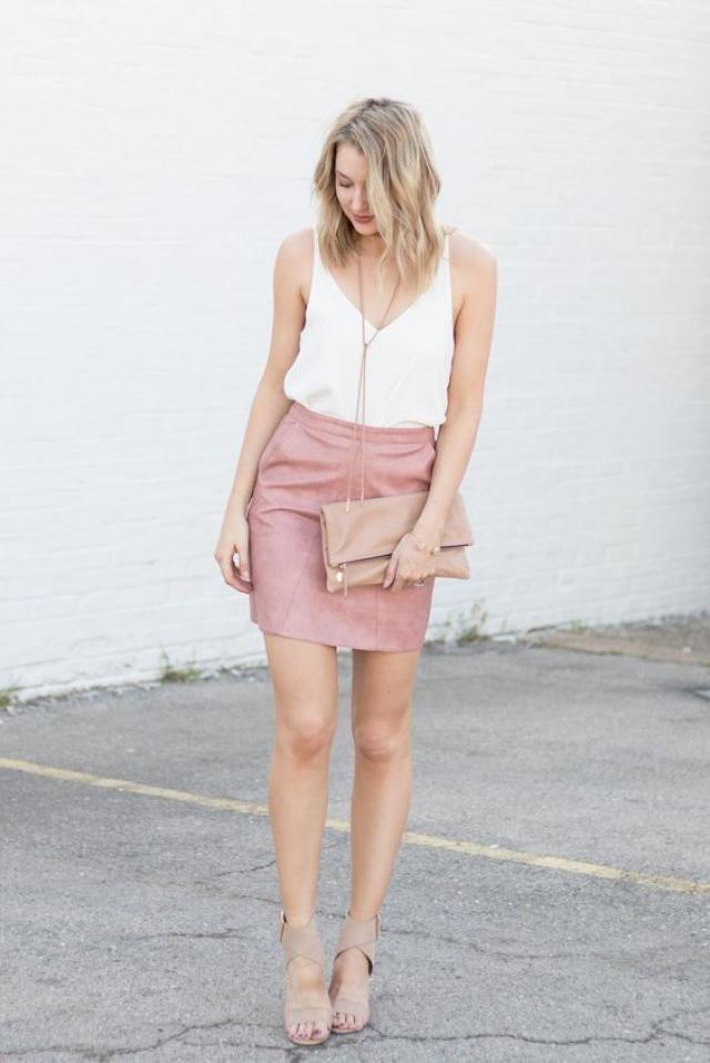 Pink mini skirt!!