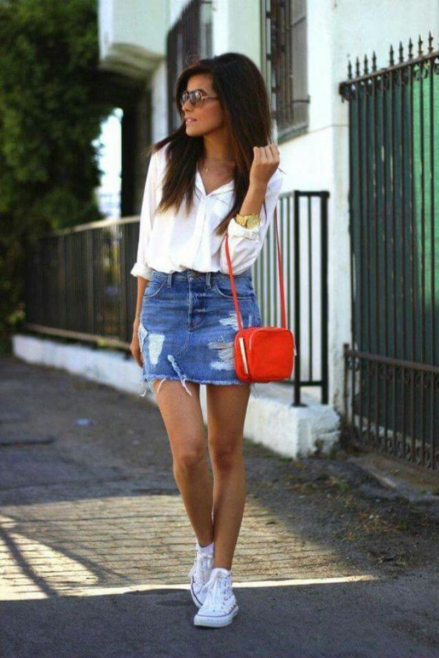 Jeans mini skirt!!