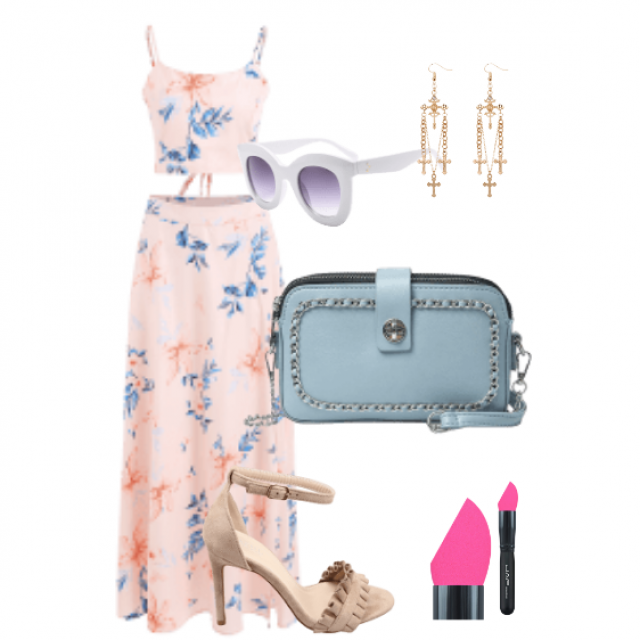 Beautiful two piece set for summer garden party