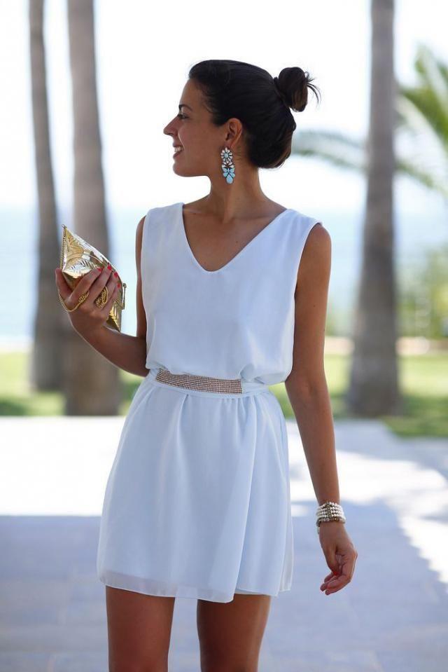 Mini White Dress !!!