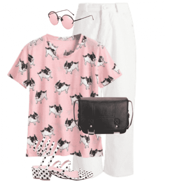 So cute shirt with printed dogs - perfect lovely style