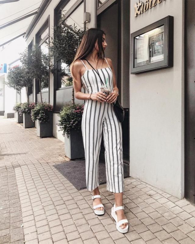 Try this striped jumpsuit for a date or any time you want to be a bit fancy but still look comfortable
