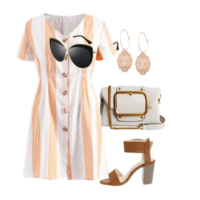 Casual mini dress  perfect look for this summer