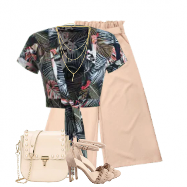 Beautiful summer combo with a beautiful top and an matching pants