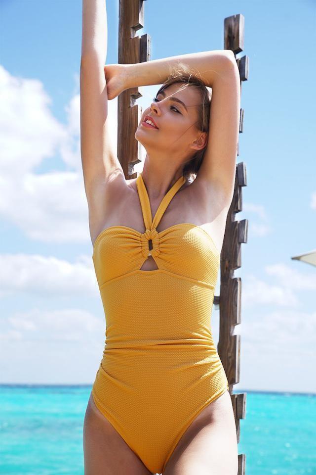Yellow One Piece Swimsuit