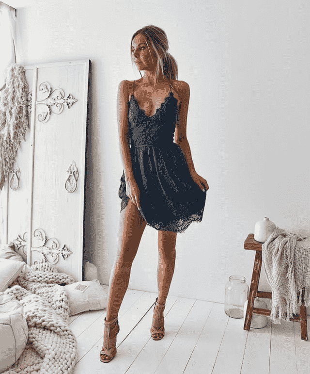 Nice blue dress for womans in Zaful colection