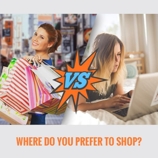 hi,babes where do you prefer to shop? Online or offline? 