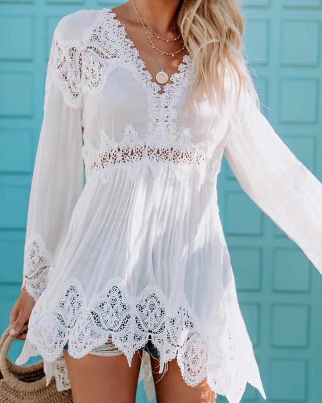 Nice white dress for young girls