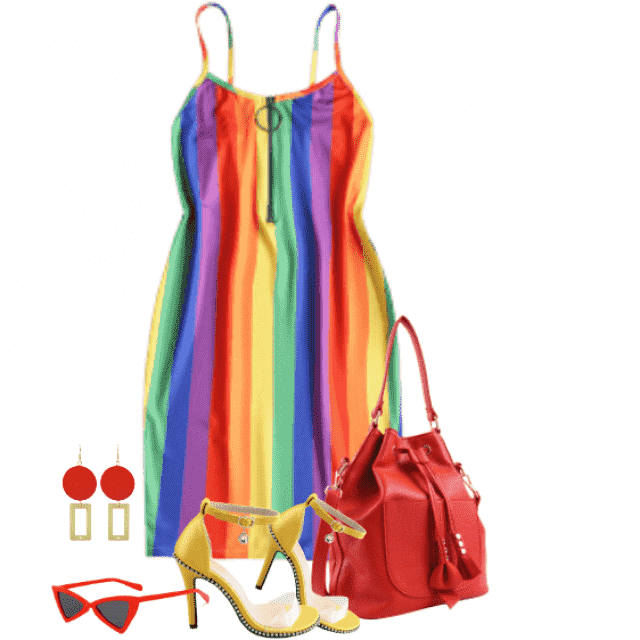 So cute and fancy summerlool with the colourful dress
