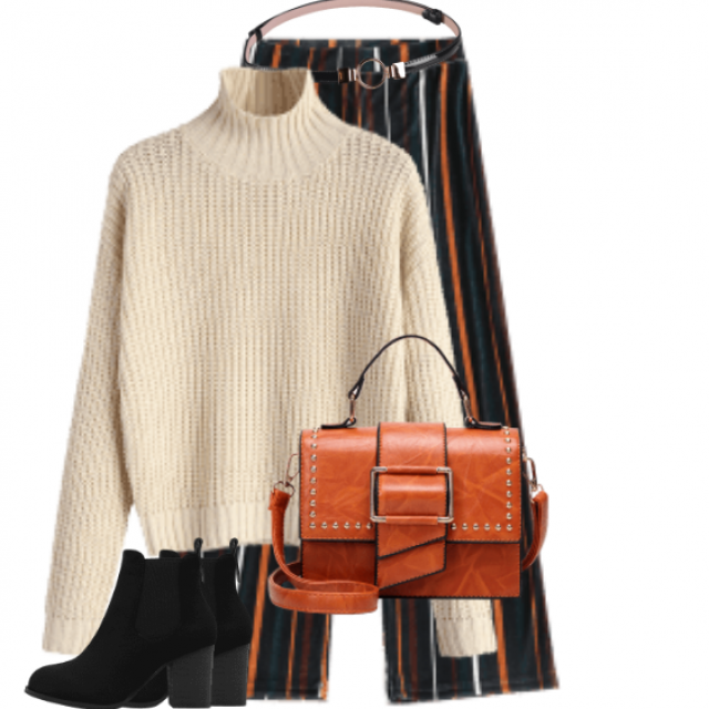 Stylish and comfortable look  - perfect for the first Autumn day