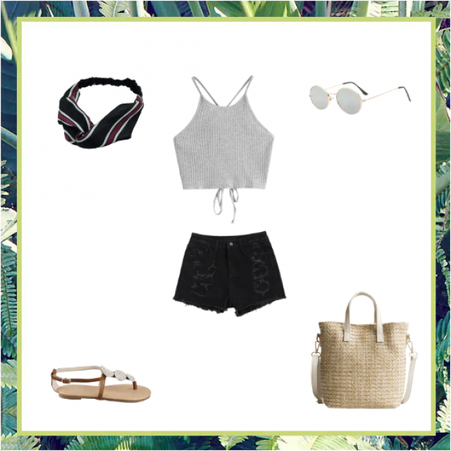 This outfit was inspired by Emma Chamberlain's style. It would be a good outfit to go to the beach or out with your fri…