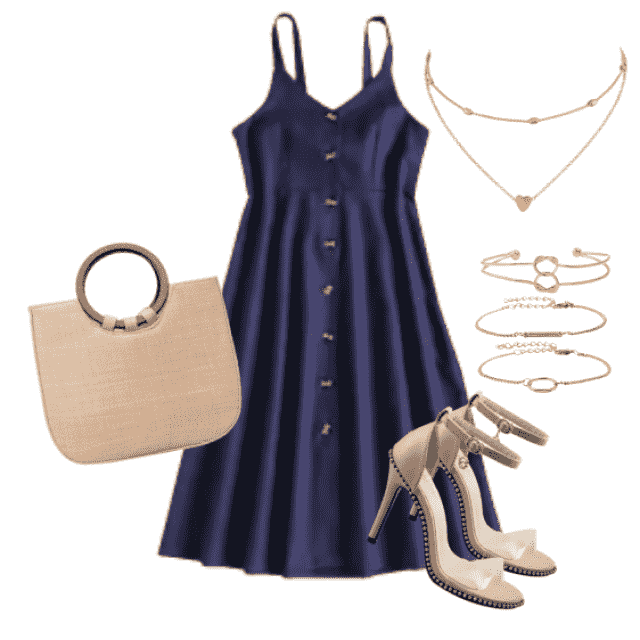 Beautiful blue dress for summer