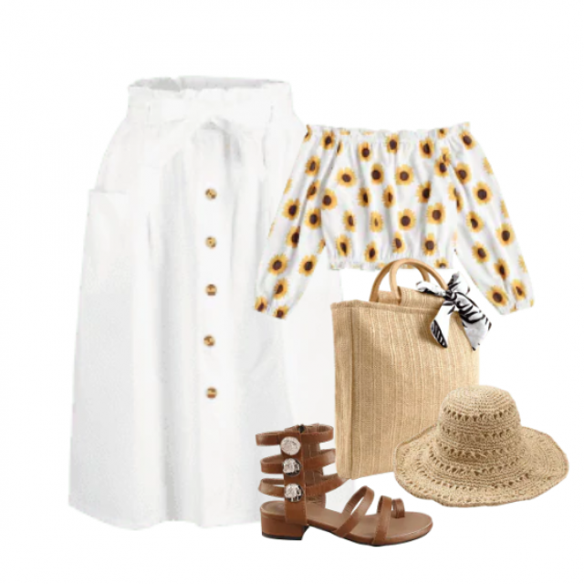 White skirt for a relaxed style