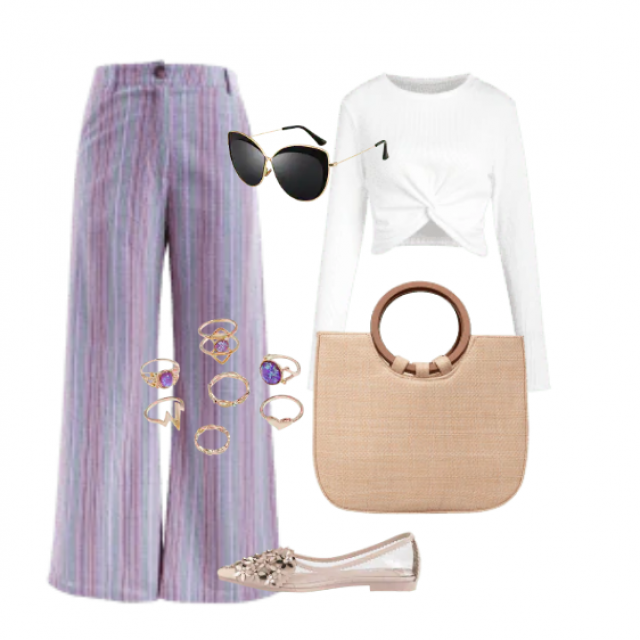 Modern pants and white top perfect combination