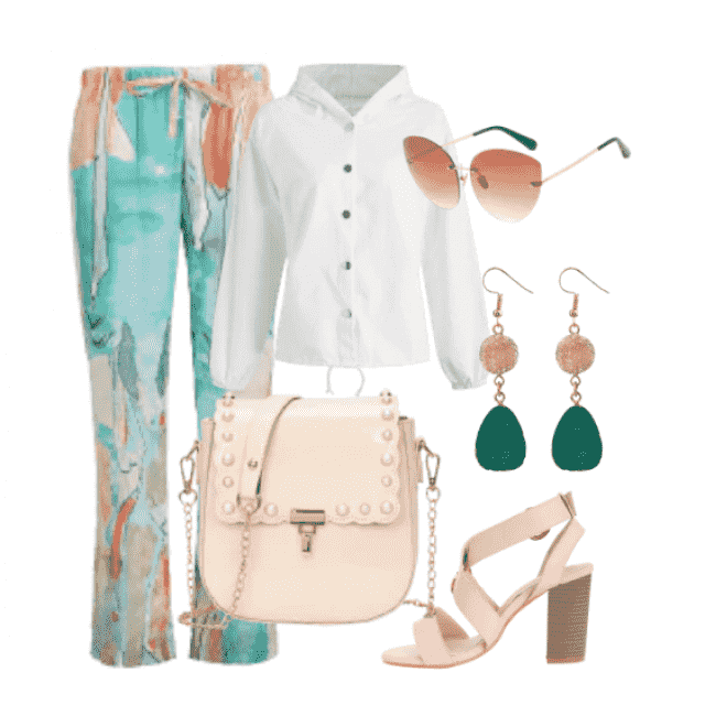 The best combination ,modern pants with beautiful  white shirt