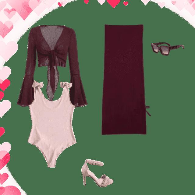 Burgundy and pink