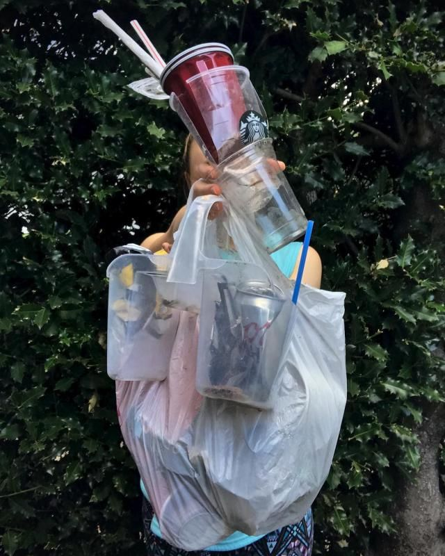 About 1/3 of the trash I saw while walking in my neighborhood today
