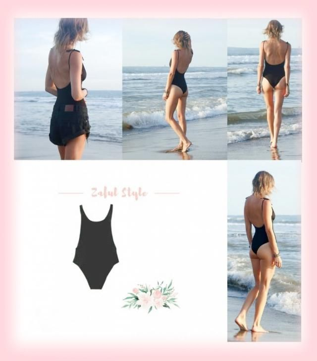 I adore❤️  this one piece swimsuit and cut-off black denim enjoy Love Evynne Labeau xoxo ❤️❤️