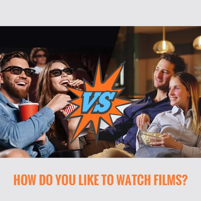 ▷ How do you like to watch films? ◁ A. Sat in the cinema B. Lounging on your sofa Let us know your idea in the comme…