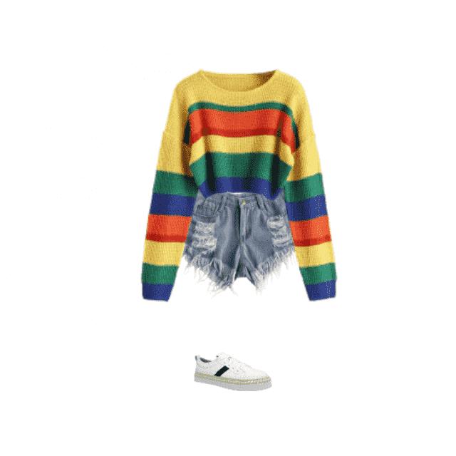 a cute rainbow outfit