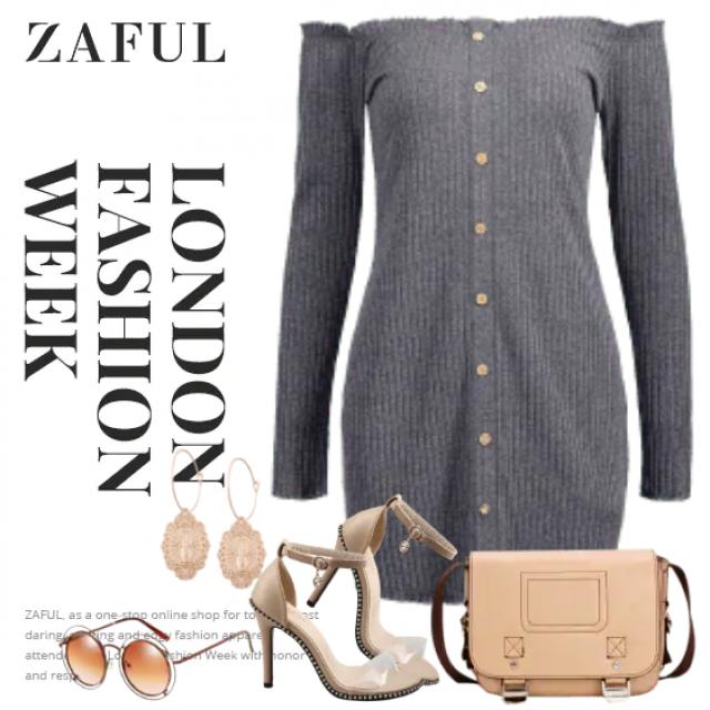 Feminine knitted dress - beautiful and stylish look
