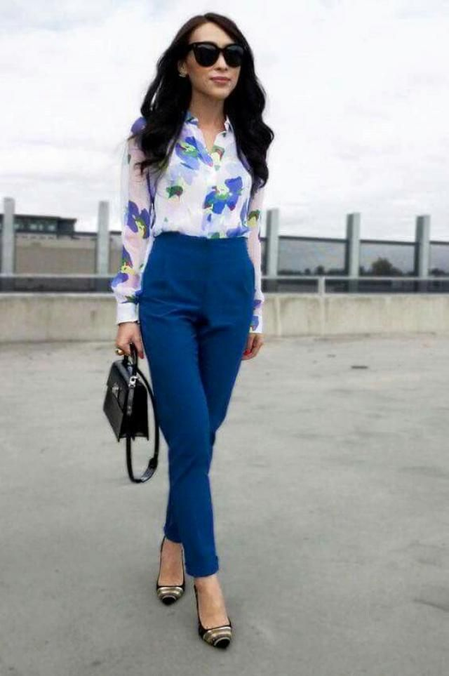 Floral Print Cinched Blouse !!!